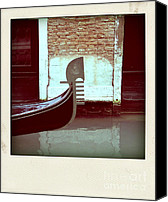Venice - Italy Canvas Prints - Gondola.Venice.Italy Canvas Print by Bernard Jaubert