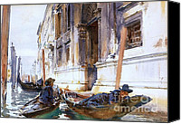Gondoliers Canvas Prints - Gondoliers  Siesta Canvas Print by Pg Reproductions
