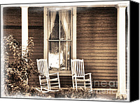 Chairs Canvas Prints - Gone Canvas Print by Julie Palencia
