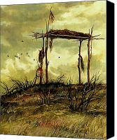 Hope Painting Canvas Prints - Gone to the Spirit Trail Canvas Print by Steve Spencer