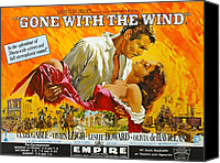 1930s Movies Canvas Prints - Gone With The Wind, From Left Clark Canvas Print by Everett