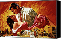 1930s Movies Canvas Prints - Gone With The Wind, Vivien Leigh, Clark Canvas Print by Everett
