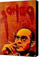Paint Canvas Prints - Gonzo - Hunter S. Thompson Canvas Print by Iosua Tai Taeoalii