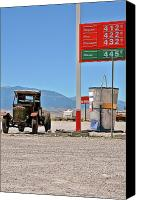 Unique Cars Canvas Prints - Good bye Death Valley - The End of the Desert Canvas Print by Christine Till