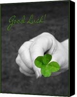 Selective Color Canvas Prints - Good Luck Canvas Print by Kristin Elmquist