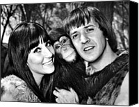 Bono Canvas Prints - Good Times, Cher, Sonny Bono, On Set Canvas Print by Everett