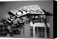 Cleveland Stadium Canvas Prints - Goodbye Cleveland Stadium Canvas Print by Kenneth Krolikowski