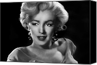 Norma Jean Canvas Prints - Goodbye Norma Jean Canvas Print by Julie L Hoddinott