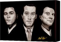 Shore Mixed Media Canvas Prints - Goodfellas Canvas Print by Michael Mestas