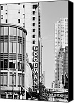 World Class Canvas Prints - Goodman Theatre Center Chicago Canvas Print by Christine Till