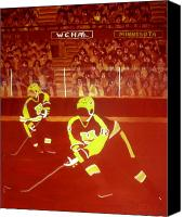 Sports Art Painting Canvas Prints - Gophers Canvas Print by Yack Hockey Art