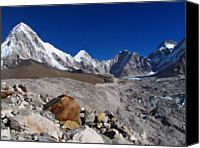 Nepal Canvas Prints - Gorak Shep-everest Base Camp Trek-nepal Canvas Print by Copyright Michael Mellinger