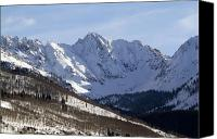 Snow Capped Canvas Prints - Gore Mountain Range Colorado Canvas Print by Brendan Reals