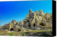 Moonscape Canvas Prints - Goreme Cave Churches Canvas Print by Angela Siener