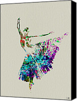 Gymnastics Painting Canvas Prints - Gorgeous Ballerina Canvas Print by Irina  March