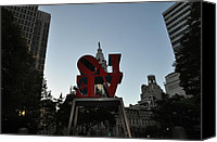 Love Park Canvas Prints - Got Love All Backwards Canvas Print by Bill Cannon