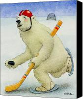 Polar Bear Canvas Prints - Got Puck... Canvas Print by Will Bullas