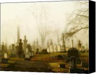 Halloween Scene Canvas Prints - Gothic Morning Canvas Print by Gothicolors With Crows