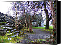 Architectur Canvas Prints - Gougane barra church cork ireland Canvas Print by Pat  J Falvey