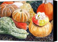 Flagg Canvas Prints - Gourds Canvas Print by Carol Flagg