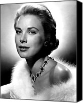 Kelly Canvas Prints - Grace Kelly, 1955 Canvas Print by Everett