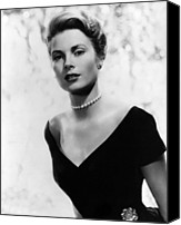 Kelly Canvas Prints - Grace Kelly, 1956 Canvas Print by Everett