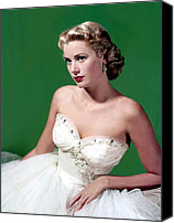 Kelly Canvas Prints - Grace Kelly, C. Mid-1950s Canvas Print by Everett