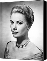 Choker Canvas Prints - Grace Kelly, Ca. 1950s Canvas Print by Everett