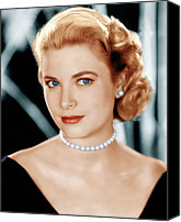 Choker Canvas Prints - Grace Kelly, Ca. 1953 Canvas Print by Everett