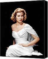 Kelly Canvas Prints - Grace Kelly, Ca. 1954 Canvas Print by Everett
