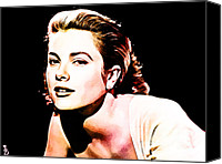 Kelly Canvas Prints - Grace Kelly Canvas Print by The DigArtisT