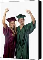 Success Photo Canvas Prints - Graduation Couple II Canvas Print by Tomas del Amo