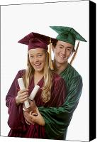 Success Photo Canvas Prints - Graduation Couple III Canvas Print by Tomas del Amo