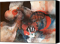Mjonesart Canvas Prints - Grafitti Horse Canvas Print by Micheal Jones