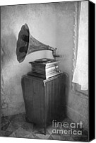 Historic Furniture Canvas Prints - Gramophone Canvas Print by Sophie Vigneault