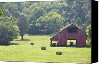 Country Scenes Photo Canvas Prints - Grampas Summer Barn Canvas Print by Jan Amiss Photography