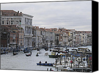 Town Pyrography Canvas Prints - Gran Canal. Venice Canvas Print by Bernard Jaubert