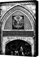 Shopping Canvas Prints - Grand Bazaar Canvas Print by John Rizzuto