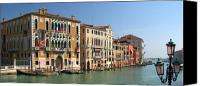 Accademia Canvas Prints - Grand Canal Venice at the Ponte dellAccademia  Canvas Print by Iain MacVinish