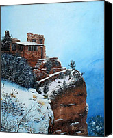 Photorealism Canvas Prints - Grand Canyon Overlook Canvas Print by Mike Ivey