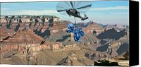 Dog Canvas Prints - Grand Canyon Canvas Print by Scott Listfield