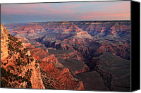 Travel Destination Canvas Prints - Grand Canyon Sunrise Canvas Print by Pierre Leclerc