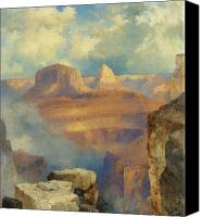 Atmospheric Painting Canvas Prints - Grand Canyon Canvas Print by Thomas Moran