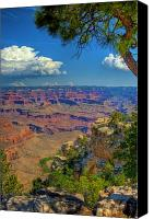Desert Southwest Canvas Prints - Grand Canyon Vista Canvas Print by William Wetmore