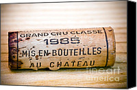 Bordeaux Canvas Prints - Grand Cru Classe Bordeaux Wine Cork Canvas Print by Frank Tschakert