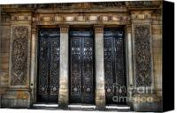 Entrance Door Canvas Prints - Grand Door - Leeds Town Hall Canvas Print by Yhun Suarez