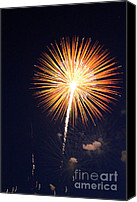 Fire Works Canvas Prints - Grand Haven Mi fireworks 2 Canvas Print by Robert Pearson
