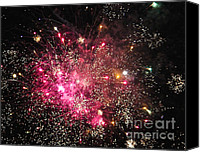 Fire Works Canvas Prints - Grand Haven Mi fireworks 3 Canvas Print by Robert Pearson
