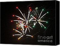 Fire Works Canvas Prints - Grand Haven Mi fireworks 5 Canvas Print by Robert Pearson