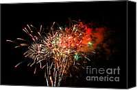 Independance Canvas Prints - Grand Haven Mi fireworks Canvas Print by Robert Pearson